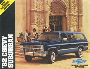 1981 Chevrolet Suburban Sales Brochure C10//C20//K10//K20