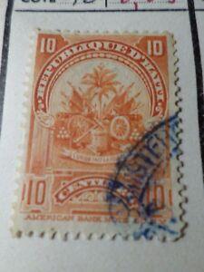 Brillant Haiti, 1898, Timbre Classique 57, Armoiries, Oblitéré, Vf Used Stamp Les Couleurs Sont Frappantes