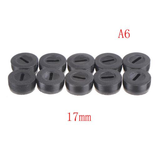 10Pcs Black Carbon Brush Holder Cap Brushes Cover 13 14 15 16 18 20 22mm RI