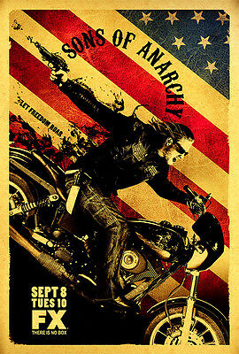 Sons of Anarchy TV Series Silk Canvas Poster 24x36 inches