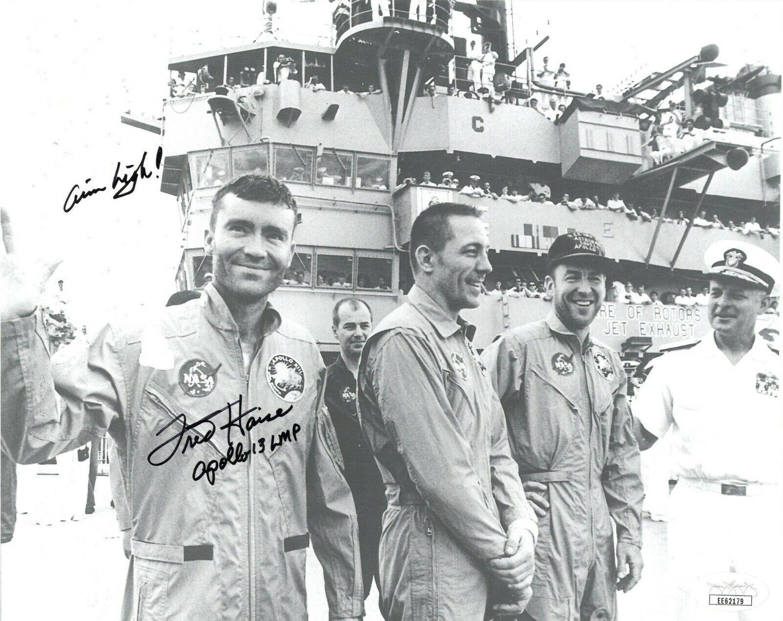 s l1600 - Fred Haise signed NASA Astronaut/Pilot 8x10 Photo Apollo 13 LMP Aim High- JSA