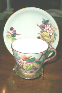 Details about James Green & Nephew Antique China Cup & Saucer Blackberries