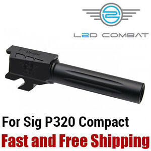 Details about L2D Combat Fluted Stainless Steel 9mm Barrel for SIG Sauer  P320 Compact - Black