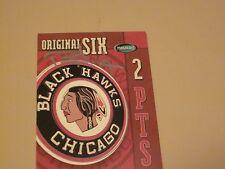 ROCKY WIRTZ AUTOGRAPHED CHICAGO BLACK HAWKS LOGO CARD