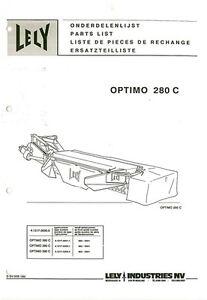 LELY MOWER OPTIMO C 205 240 280 OPERATORS MANUAL