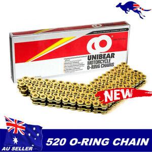 Unibear-ORING-CHAIN-520-116-LINKS-FOR-MOTORCYCLE-ATV-UTV-ENDURO-TRAIL-BIKE-GOLD