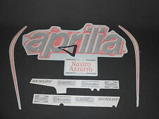 INCOMPLETE GENUINE APRILIA RS 125 1999 BLUE/RED FAIRING DECAL SET AP8157135