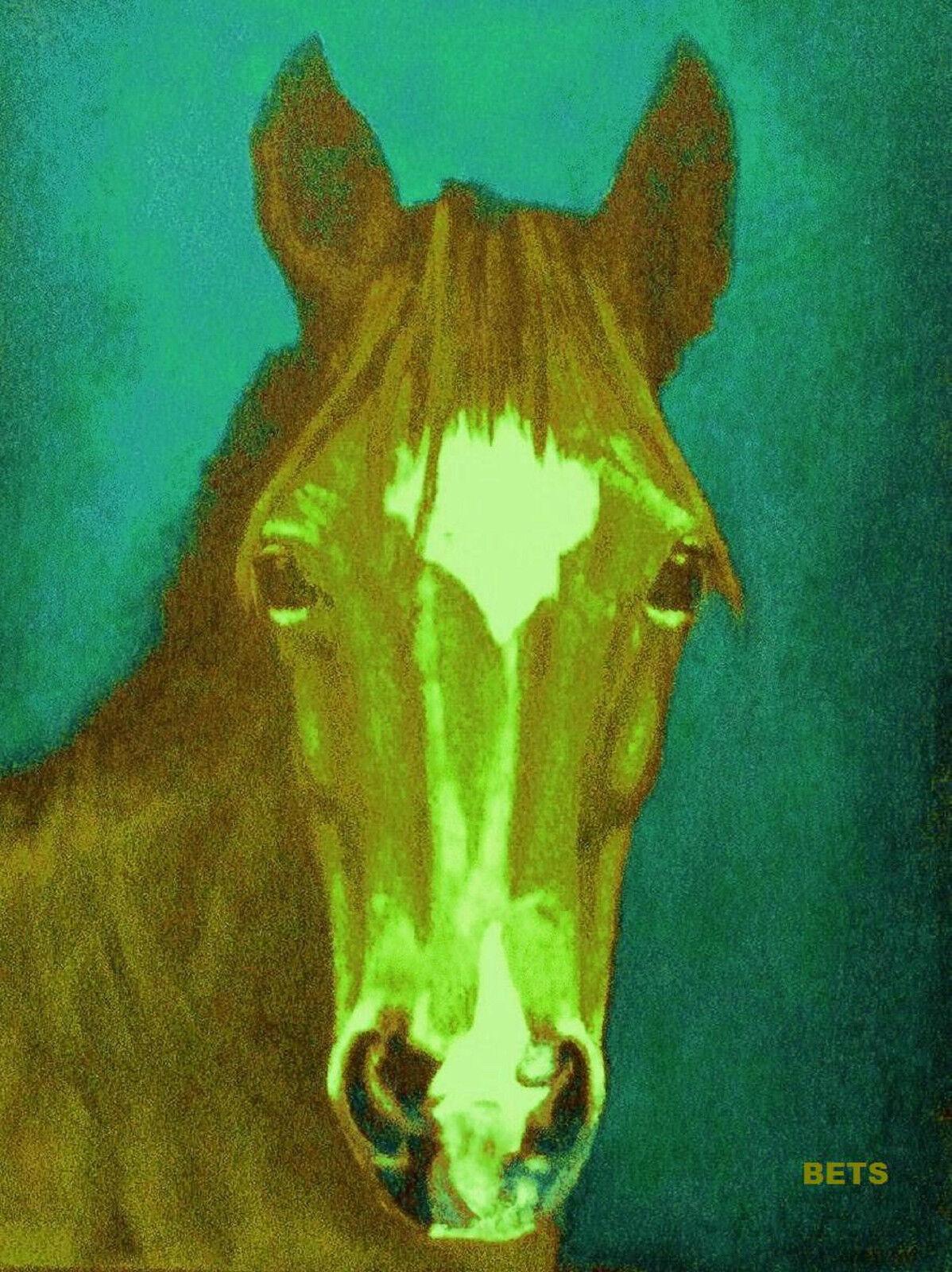PONY PRINT Giclee MI AMORE AMORE MI artist BETS 7 COLORS print sze 14 x 19 WOW YOUR WALLS a5341b