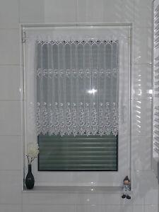 Scheibengardine-Gardine-Scheibenhaenger-Panneaux-Vorhang-50cm-hoch-weiss