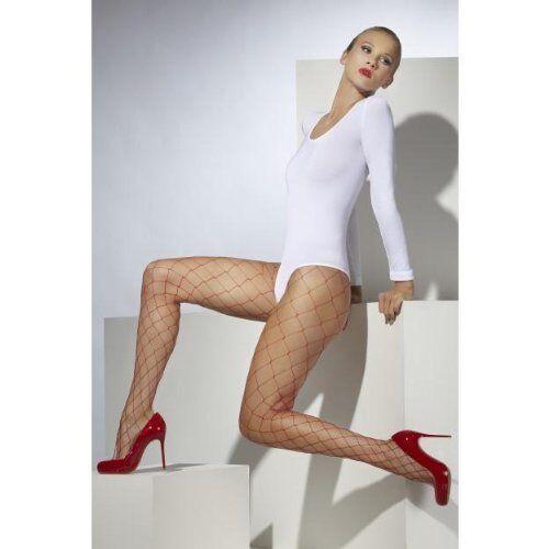 Donna Collant rete Diamond net ~ Rosso