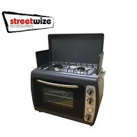 Leisurewize Outdoor Camping Portable Cooker Twin Hob Stove & Oven Lwacc432