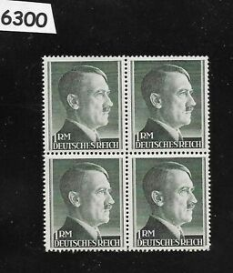 6300-Nice-MNH-1RM-Adolph-Hitler-Third-Reich-stamp-block-1942-1944-Sc524