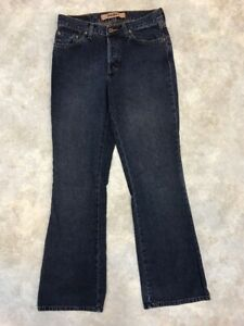 Mavi-Women-039-s-Blue-Dark-Wash-Low-Rise-Button-Fly-Molly-Flare-Jeans-Sz-28x30