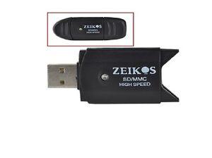 2X USB 2.0 Memory Card Reader Writer Adaptor for SD MMC SDHC TF Card 64GB CGY