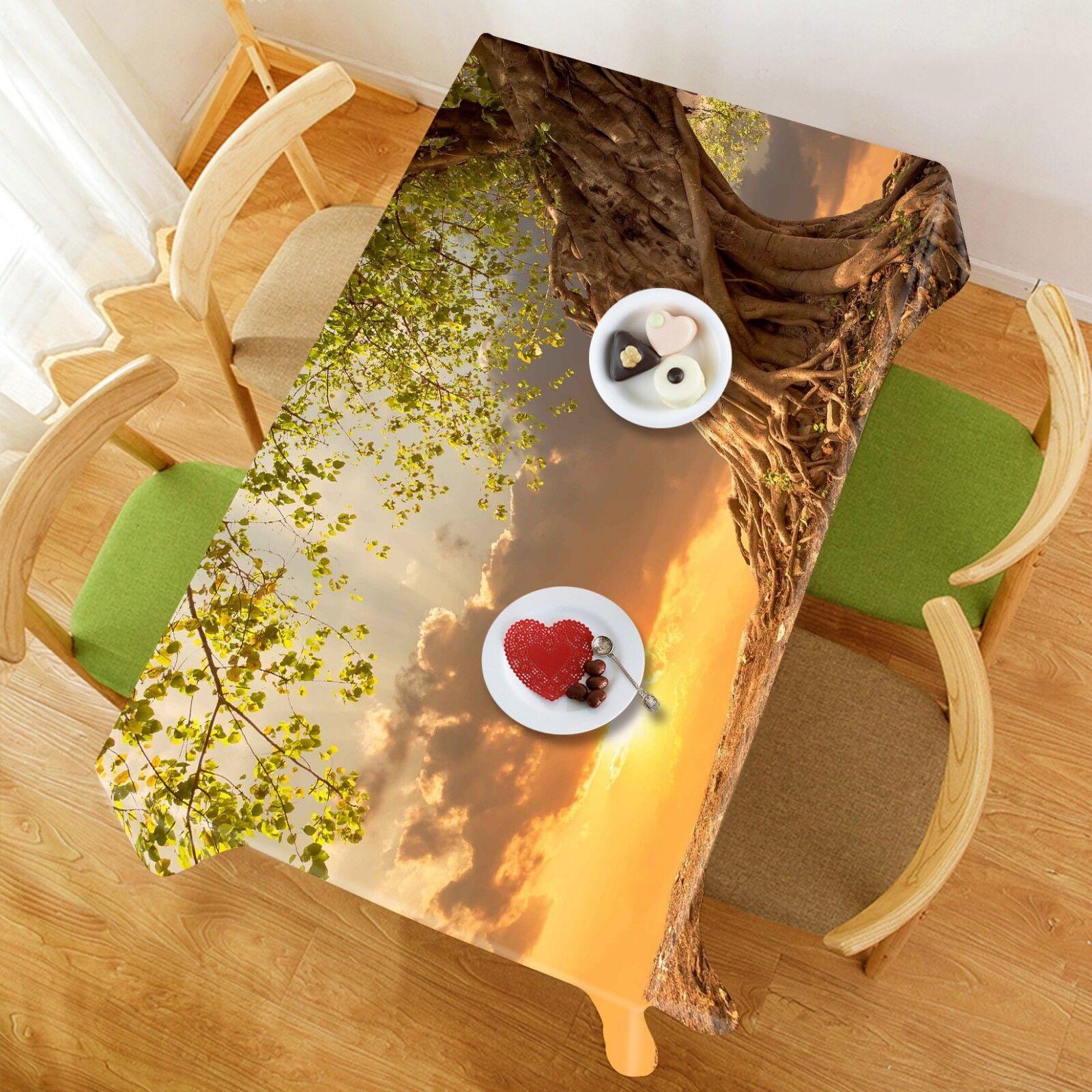 3D Plant Dusk 055 Tablecloth Table Cover Cloth Birthday Party Event AJ Lemon