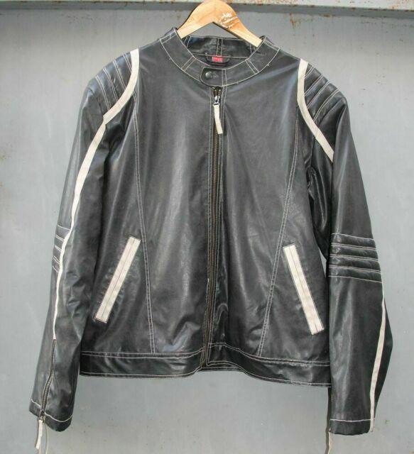 EXPLORER Vintage Giacca Giubbino moto PELLE Tg 52 54 USATO