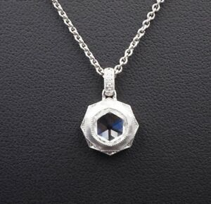Platinum-Natural-Rose-Cut-Diamond-Pendant-Necklace-1-25ct-GIA-VVS2-G-NG473