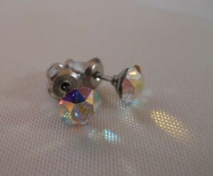 HYPOALLERGENIC-Stud-Earrings-Swarovski-Elements-Crystal-5-mm-size-in-AB-color
