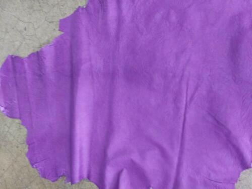 Italian Lambskin Hide leatherskin Distressed Antiqued Lavender 6sqft 1.5oz 0.6mm