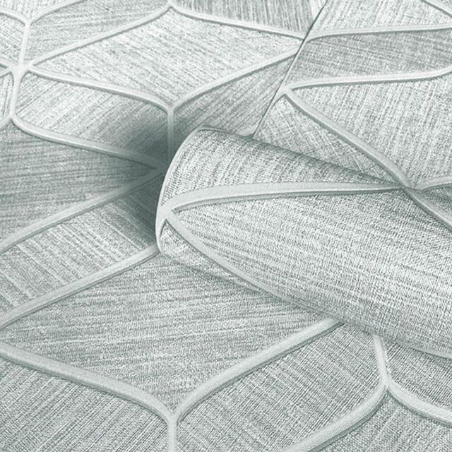 Belgravia Decor Luciano 3D Effect Geometric Wallpaper Metallic Sheen Fabric-like