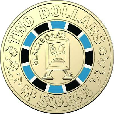 2019 $2  Coin 60th Anniversary of Mr Squiggle and Friends Coloured Unc #4 EX SET