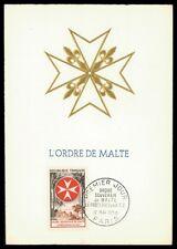 FRANCE MK 1956 MALTESERORDEN SMOM S.M.O.M. MAXIMUMKARTE MAXIMUM CARD MC CM h0470