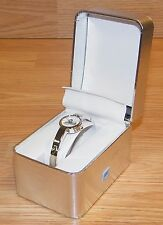 Vintage Kim Rogers Silver Tone Adjustable Watch With Glittery Snowman Face READ