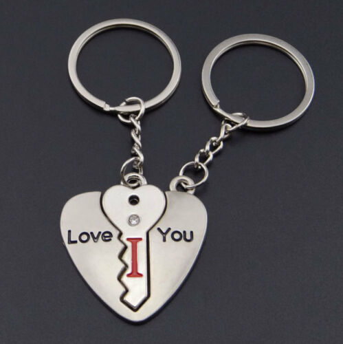 MonkeyEAT I Love You Key Heart Valentine/'s Day Couple/'s Keychain