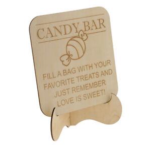 Details zu Hochzeit Geburtstag Party Bar Schild Dekoration mit ''Candy Bar'' Zeichen