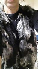 fake fur vintage waist coat size 14