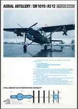 SIAI SAVOIA MARCHETTI SM1019 AS12 1980 (eng) ALE AERONAUTICA Brochure - DVD