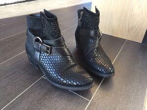 Mazelie Détails Noires Boots sur 38 rdeQBCxoW