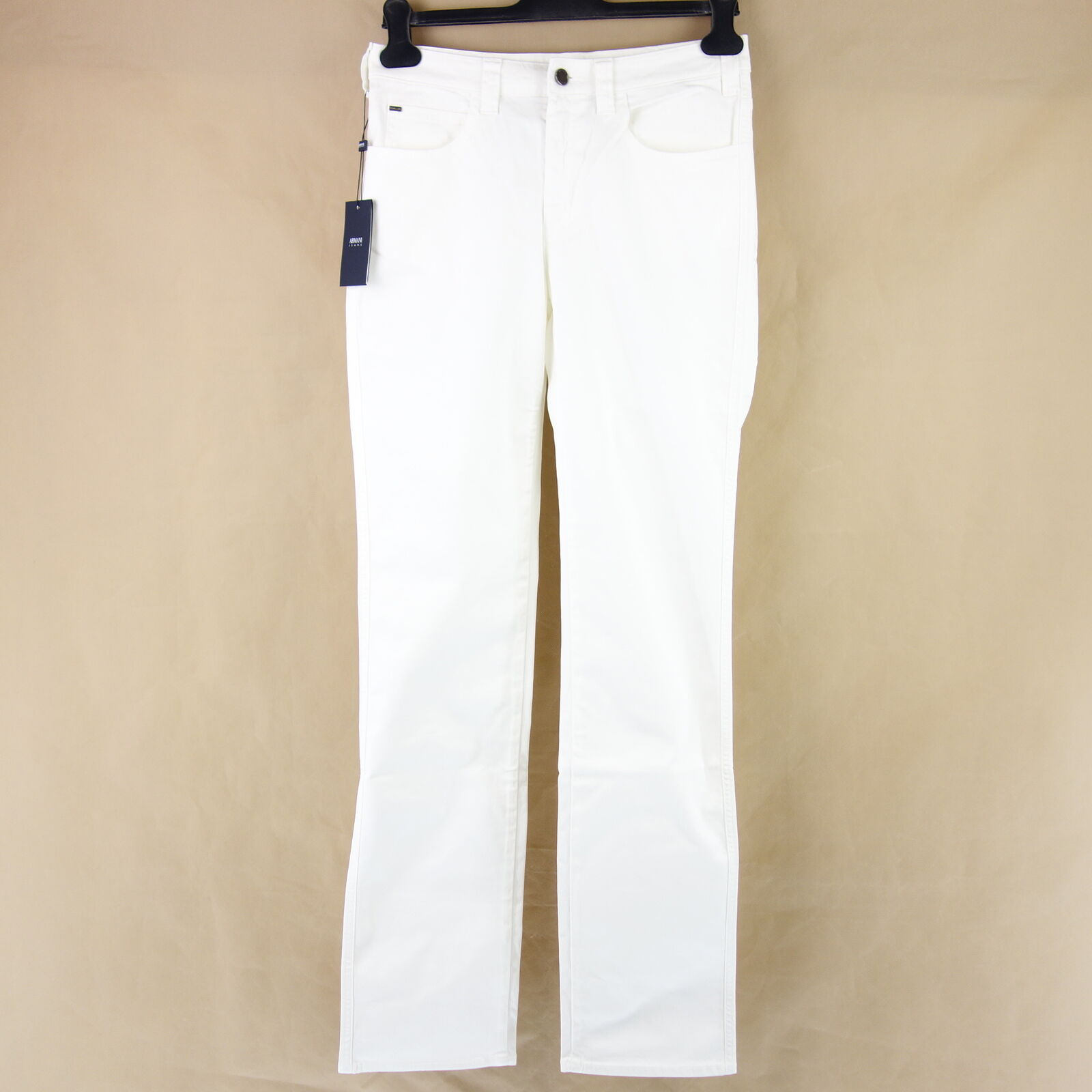 Armani Jeans Aj Women's Trousers pink W31 Regular Fit White Denim Np 199 New