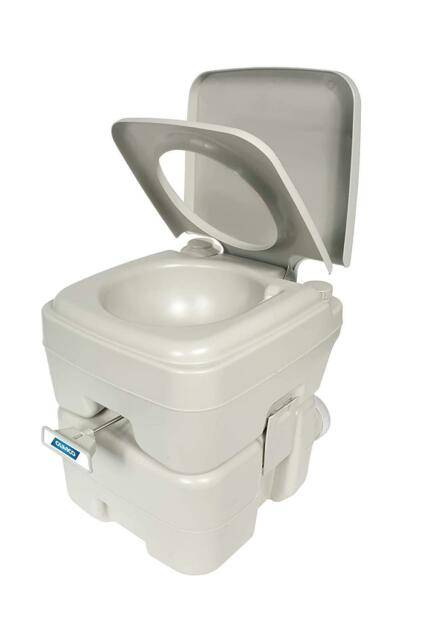Camco Standard Portable Travel Toilet, Designed for Camping, RV, Boating 5.3gall