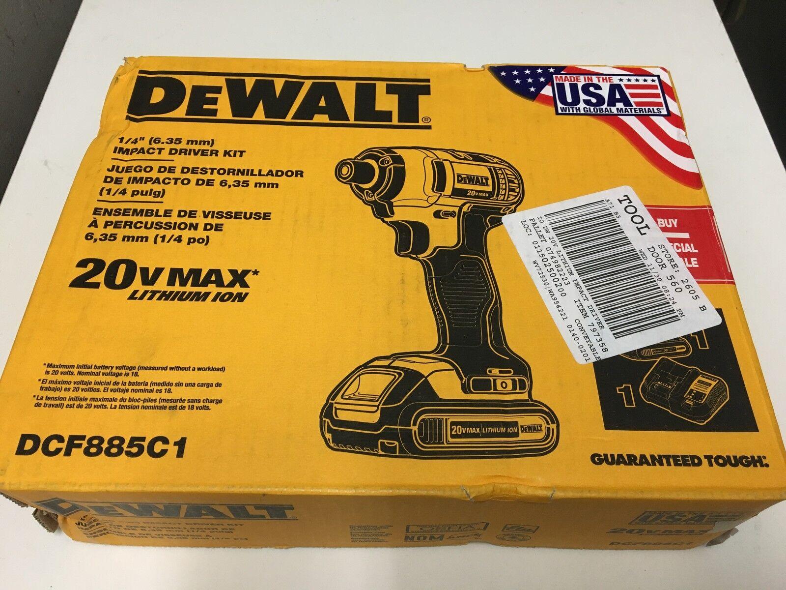 DEWALT DCF885C1 20V Max 1/4