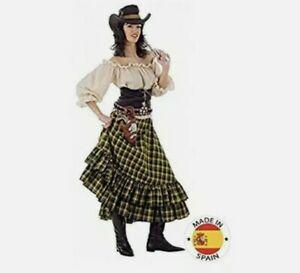 Limit Wild West Girl Kostüm Größe Large Mütze Karo Rock TOP