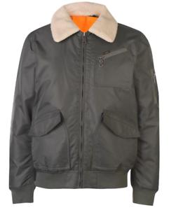 Lee-Jeans-Flight-Bomber-Jacke-Herren-Full-Zip-Kragen-UK-Groesse-S-small-ref107