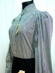 Victorian-Frontier-Classics-Vintage-style-black-striped-blouse-sizes-S-3X-new