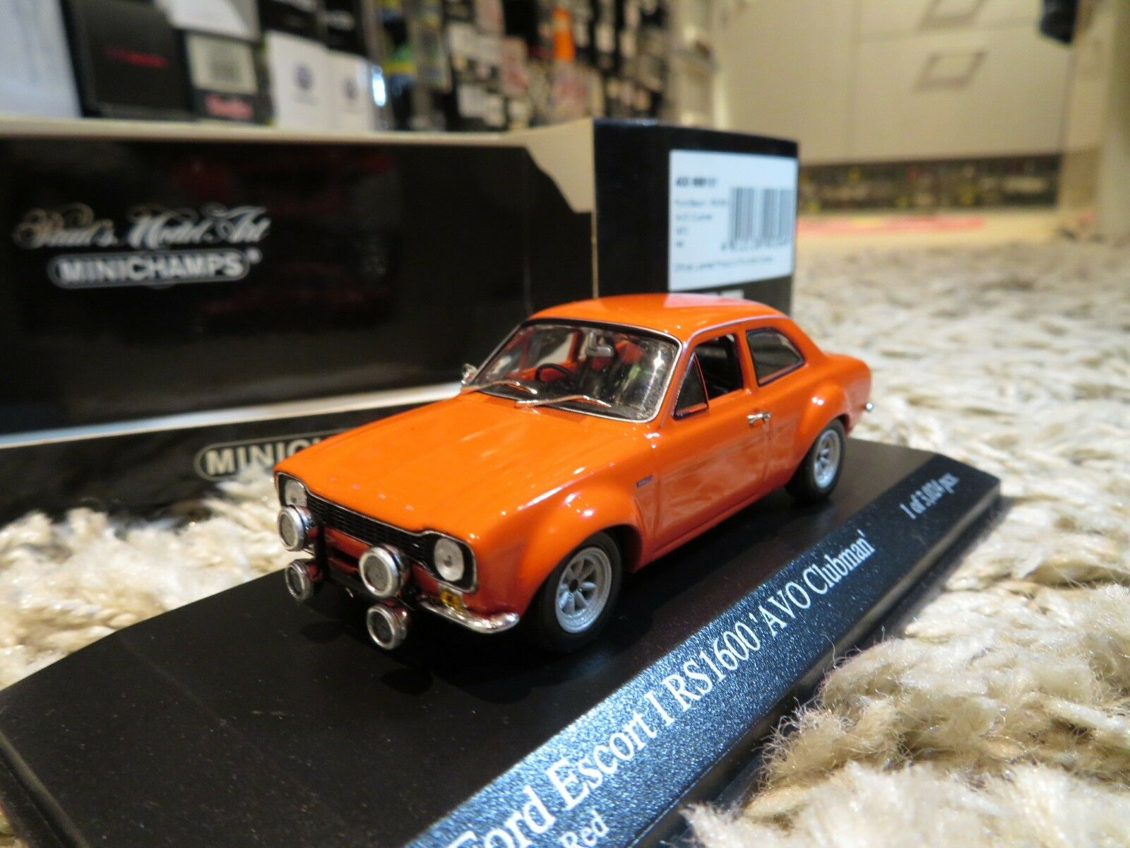 1   43 minichamps ford escort - rs1600 rs 1600 (1970),  avo clubman  nein