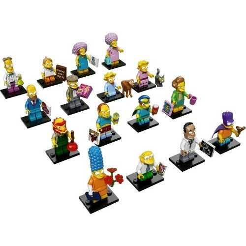 LEGO Minifigures The Simpsons Series 2 Complete Set of 16 New Figures 71009