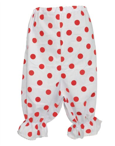Adults White /& Red Polka-Dot Panto Comic Sports Relief Fancy Dress Bloomers