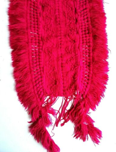 M/&S Womens Scarf Fringe Woven Neck Wrap Winter Warm Cosy M And S Pink Hot £15