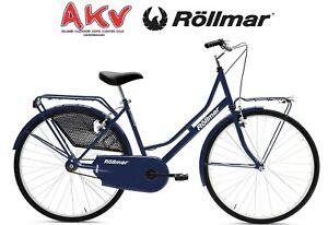 Dettagli Su Ciclo Bici 24 Donna Acciaio Olanda 1 Velocità Blu 110241009