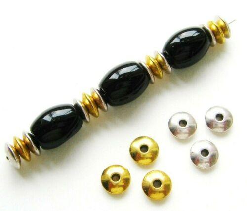 Metal perlas metallspacer rondellen 2x6mm 20//100 unidades serajosy