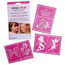 SNAZAROO FACE PAINT STENCILS - GIRLS FANTASY SET OF 6