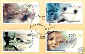 BRD-2000-Sporthilfe-Nr-2094-2097-mit-Bonner-Ersttags-Sonderstempel-1A-1805