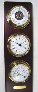 Victory-BA3751-Barometer-Hygrometer-Thermometer-Clock-Combo-Mounted-Set-135-233