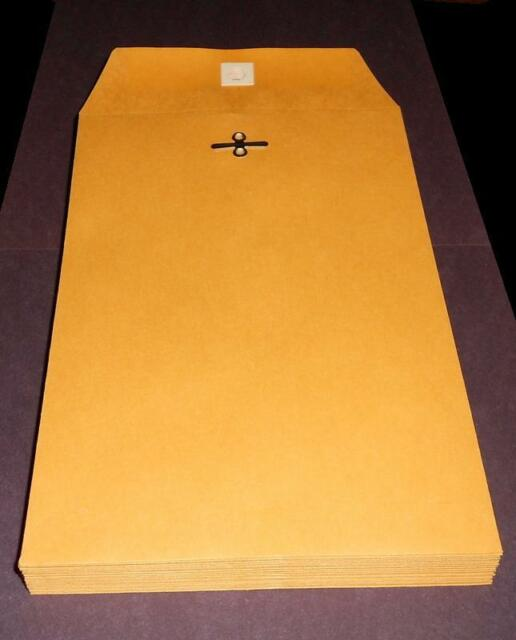 "Staples Brown Kraft Clasp 6/"" x 9/"" Envelopes 100//Box 186999"
