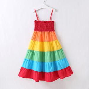 Rainbow-Toddler-Infant-Kids-Baby-Girl-Sleeveless-Daily-Cute-Tutu-Dress