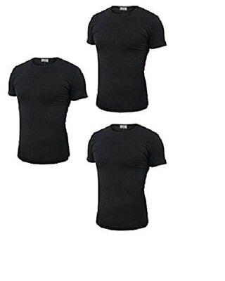 3 T-shirt Uomo Mezza Manica Girocollo Cotone Pettinato Enrico Coveri Art. Et1100